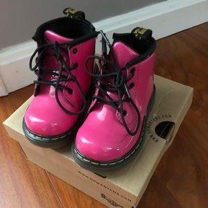 Hot pink dr. Martens boots